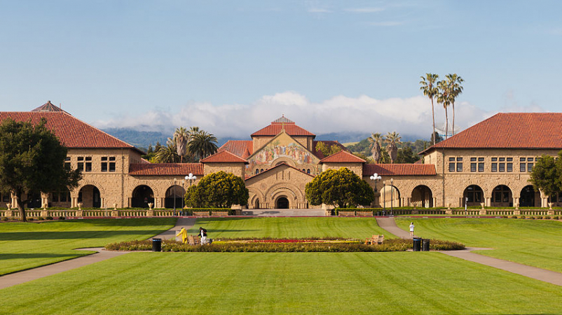 External view of the Stanford campus